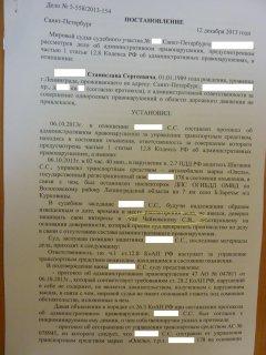Выигранные Дела по ст. 12.8 ч. 1 КоАП РФ